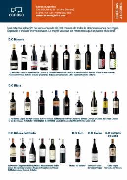 catálogo vinos y licores canasa navarra